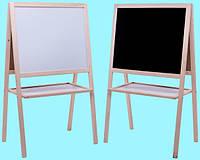 Мольберт детский двухсторонний магнитный, доска для рисования для магнитов, маркеров и мела 3в1.