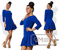 Очаровательное женское платье (креп-дайвинг, длина мини, рукава 3/4, пышная юбка, коктейльное) РАЗНЫЕ ЦВЕТА!