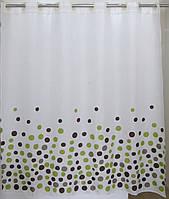 Шторка для ванной цветные круги вмонтированные кольца AWD02100849