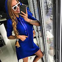 Молодежное худи-платье