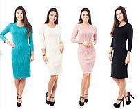 Вязаное женское платье 3095