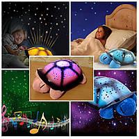 Музыкальный ночник «Черепашка», проектор звездного неба Twilight turtle +USB шнур!!, Акция