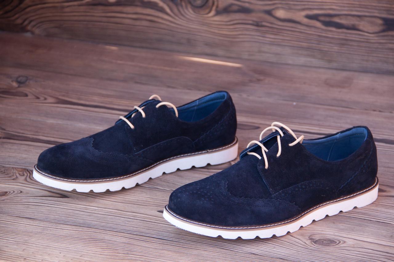 Мужские Итальянские туфли из замши Florentino.