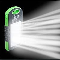 Солнечное портативное зарядное устройство со светодиодной лампой, POWER BANK 10800mAh защищённое!, Акция