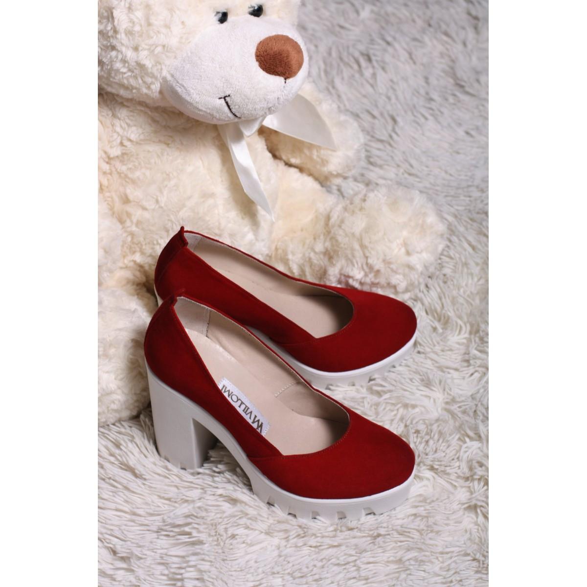 2913c79d1627 Замшевые туфли красные 818-13K