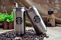 Термос, Термокружка - банка Starbucks Coffee 500 мл (с трубочкой)  Старбакс, Акция