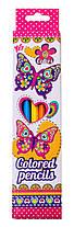 """Олівці 6 кольорів """"Butterfly"""" Yes"""