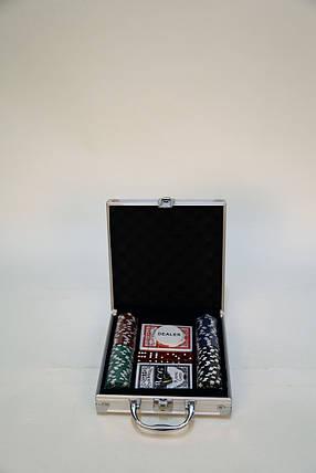 Набор для покера на 100 фишек, фото 2