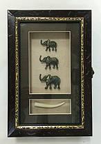"""Ключница  настенная, деревянная -""""Три Слона"""", фото 2"""