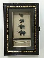"Ключница  настенная ""Слоны семейство"""