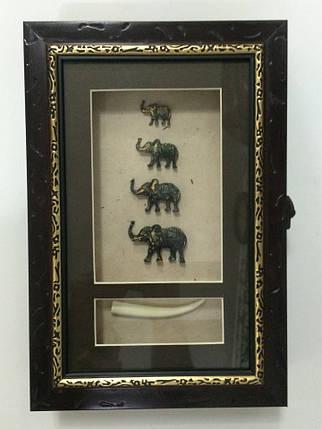 "Ключница  настенная ""Слоны семейство"", фото 2"