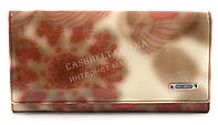 Классический женский лаковый кожаный кошелек высокого качества art. 2029-D57 розовые растения