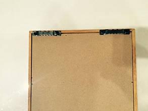 """Ключница  настенная, деревянная -"""" Маска под стеклом """", фото 2"""