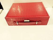 Кожаная шкатулка для украшений с вкладышем, фото 3