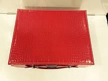 Кожаная шкатулка для украшений с вкладышем, фото 2
