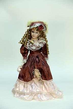 """Интерьерная кукла сувенирная, фарфоровая, коллекционная 50 см """" Луиза """", фото 2"""