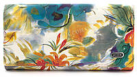 Классический женский яркий кошелек высокого качества DEKESI art. YS2030-WT-1 яркие цветы