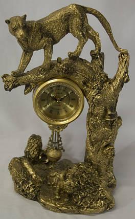"""Оригинальные настольные интерьерные часы с маятником Гепард """" Классика """", фото 2"""