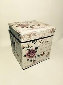 """Пуфик складной коробка """"Роза"""""""