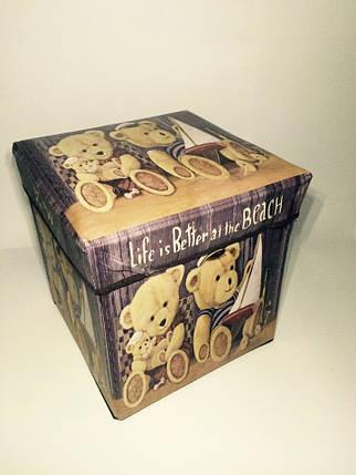 """Пуфик коробка в детскую """" Медвежата """", фото 2"""