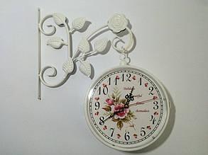 """Настенные уличные металлические кварцевые часы, в стиле вокзальных """" Букет """", фото 2"""