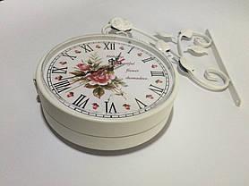 """Настенные уличные металлические кварцевые часы, в стиле вокзальных """" Букет """", фото 3"""
