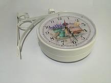 """Настенные уличные металлические кварцевые часы, в стиле вокзальных """" Лаванда """", фото 2"""
