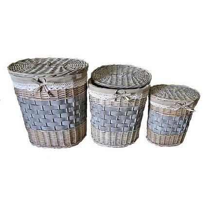 Набор корзин для белья из 3 шт., фото 2