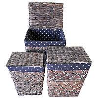 Набор корзин для белья из 3 шт.