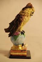 Статуэтка сова на глобусе 091205B, фото 3