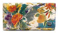 Классический женский яркий кошелек высокого качества DEKESI art. YS5003-WT-1 яркие цветы
