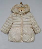 Куртка Monnalisa для дівчинки р80-104 кремовий