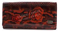 Классический женский яркий лаковый кошелек высокого качества DEKESI art. YS2030-657-8 красные цветы