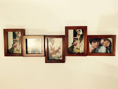 Фотоколлаж, мультирамка  фоторамка на 5 фото дерево, фото 2