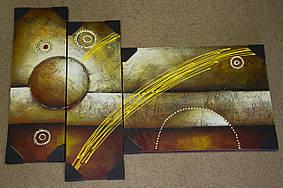 Модульная картина на холсте из 3 частей