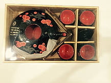 Набор для чайной церемонии черный в деревянной коробке, фото 3