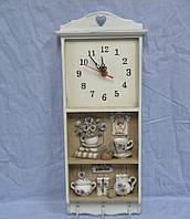 """Настенные кварцевые часы  с 3 крючками """" Кухня """""""