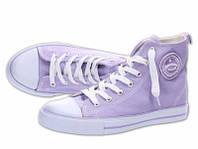 Стильные, яркие высокие кеды American club аля Converse для женщин и подростко р.37,38,39,41 светло-фиолетовые