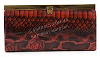 Классический женский яркий лаковый кошелек высокого качества DEKESI art. YS2263-657-8 красные цветы