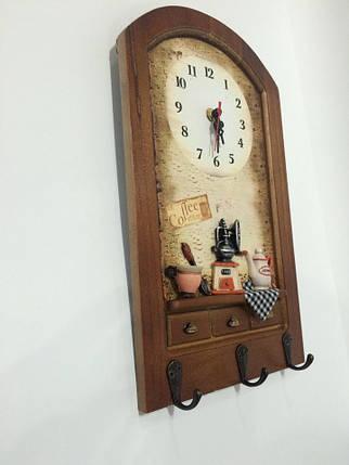 """Настенные кварцевые часы  с  крючками """" Кухня """", фото 2"""