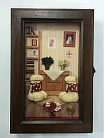 """Ключница  настенная, деревянная - """" Мебель """""""