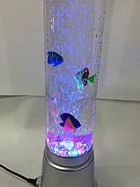 Светильник ночник с рыбками столб 88 см, фото 3