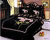 Комплект постельного белья Le Vele Buket black, двуспальный евро 200х220см