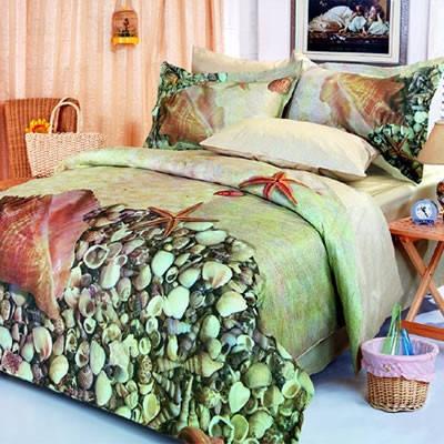 Комплект постельного белья Le Vele Deniz, двуспальный евро 200х220см, фото 2