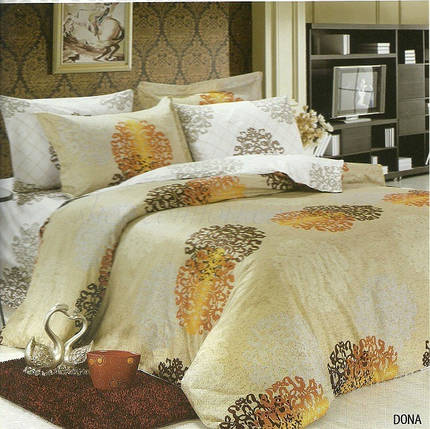 Комплект постельного белья Le Vele Dona, двуспальный евро 200х220см, фото 2