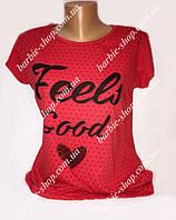 Красная футболочка для девочек