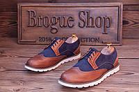 Мужские туфли броги кожаные Florentino (новые).