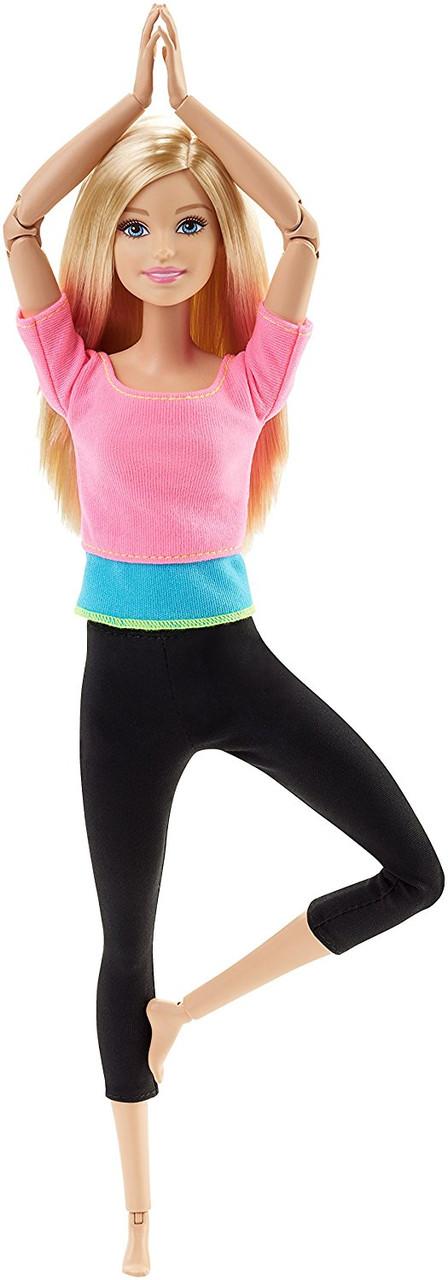 Кукла Барби йога блондинка розовый топ безграничные движения Barbie Made to Move Pink Top