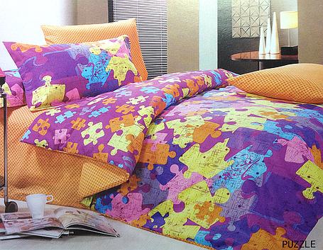 Комплект постельного белья Le Vele PUZZLE, двуспальный евро 200х220см, фото 2