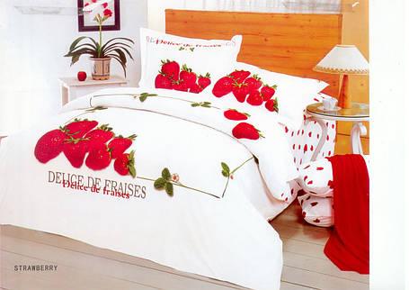 Комплект постельного белья Le Vele strawberry, двуспальный евро 200х220см, фото 2